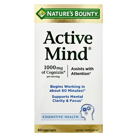 Nature's Bounty Active Mind Coated Caplets - 60 ea