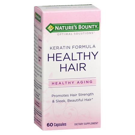 Nature's Bounty Healthy Hair Keratin Capsules - 60 ea
