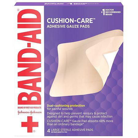 Band-Aid Adhesive Gauze Pads Size Large - 4 ea