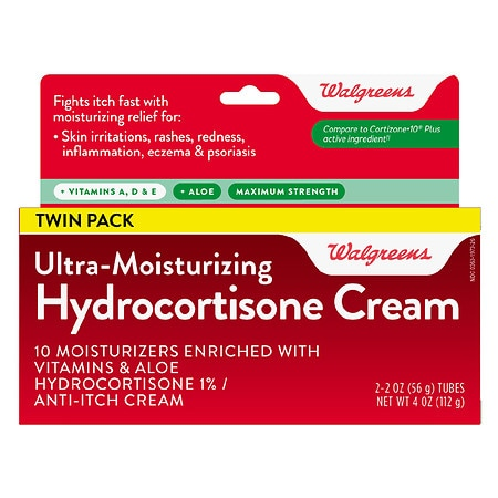 Walgreens Hydrocortisone Plus Cream - 2 oz. x 2 pack