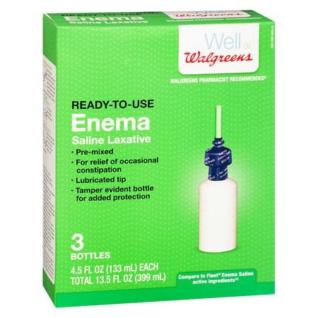 Walgreens Enemas - 4.5 oz. x 3 pack