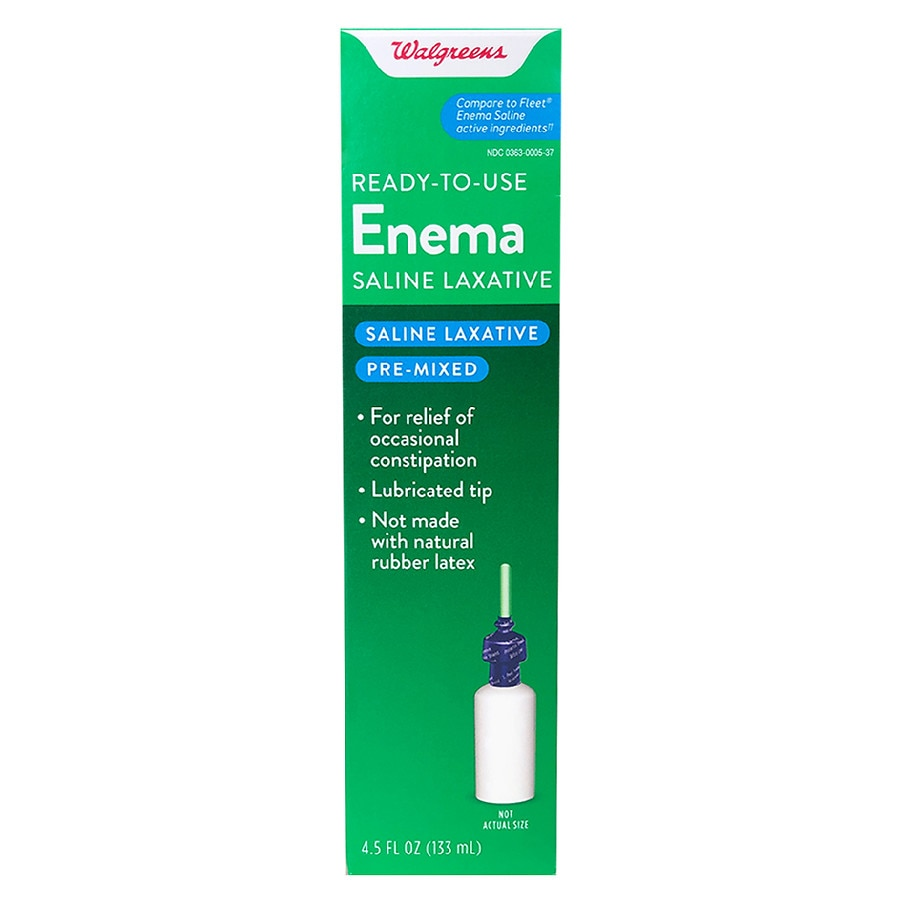 Walgreens Enema Saline Laxative