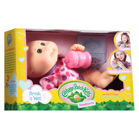 CABBAGE PATCH KIDS Drink N Wet Caucasian Doll 11 Inch Assortment - 1 ea