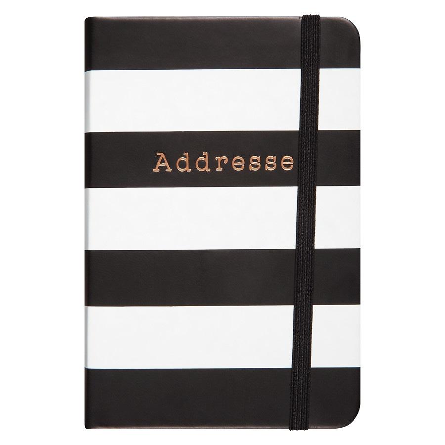Cr gibson small address book black white stripe walgreens