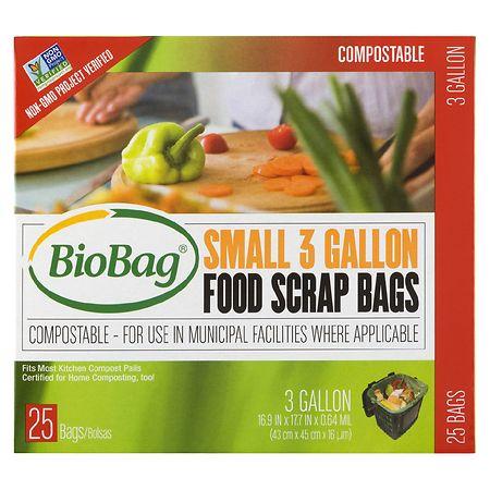 BioBag Food Waste Bags 3 Gallon - 25 ea