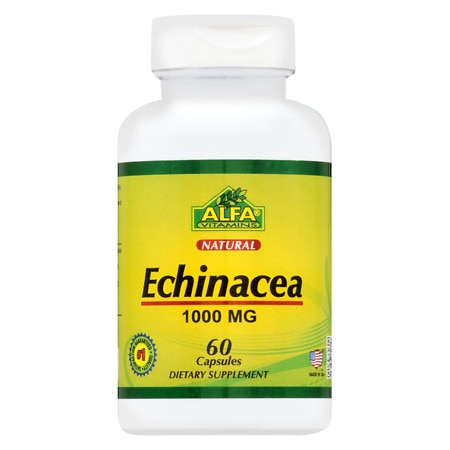 Image of Alfa Vitamins Echinacea 1000 mg Caps - 60 ea
