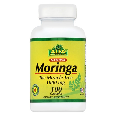 Image of Alfa Vitamins Moringa 1000 mg Caps - 100 ea
