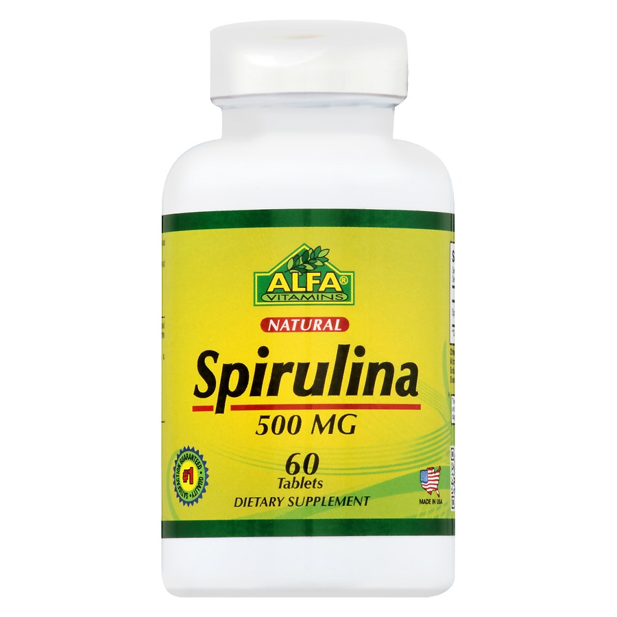 spirulina 500mg 60 cápsulas para que serve