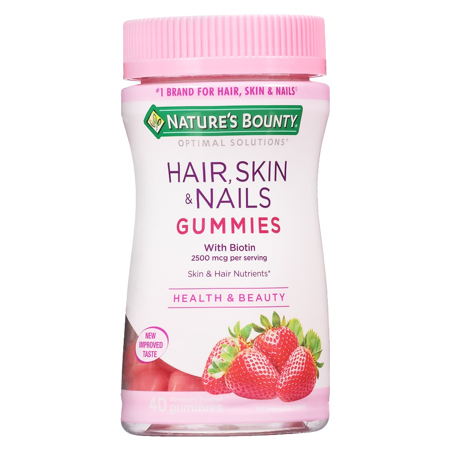 Nature S Bounty Optimal Solutions Hair Skin Nails Gummies