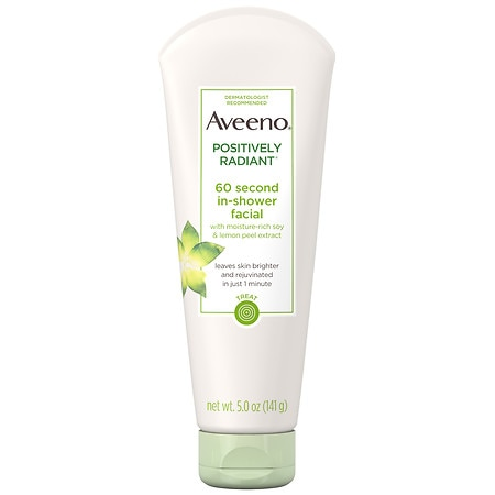 Aveeno 60 Second Shower Facial, Soy Extract - 5 oz.