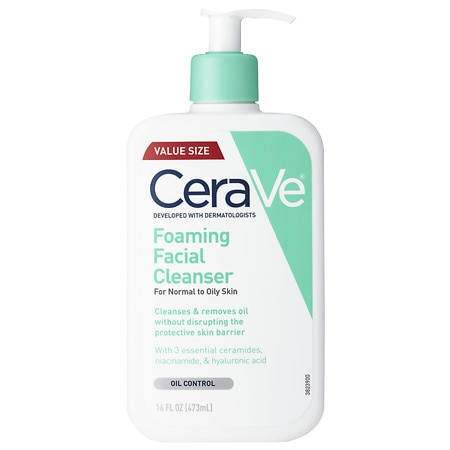 Foaming Face Cleanser Fragrance Free with Hyaluronic Acid - 16 oz.