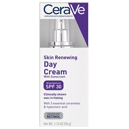 Skin Renewing Retinol Day Face Cream with Sunscreen SPF 30 - 1.7 oz.