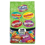 Wrigley's Skittles, Starburst, and Life Savers Gummies Candy Bag, Fun Size Assorted
