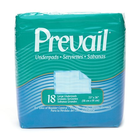 Prevail Underpads, Large 23 x 36 Inches - 18 ea