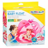 Aqua Leisure Fun Fish Baby Float With Canopy Assortment