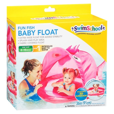 Aqua Leisure Fun Fish Baby Float With Canopy Assortment - 1 ea