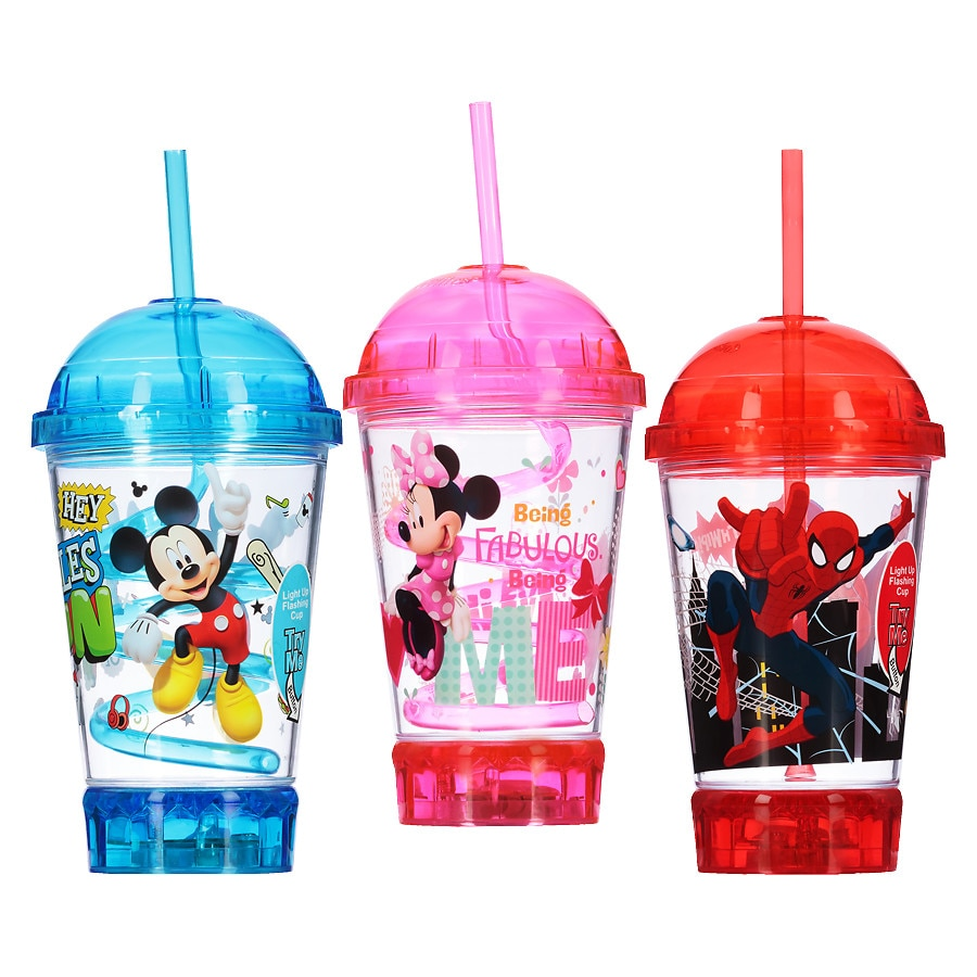 Baby Bottles Feeding New Curley Straw Cup Assorted