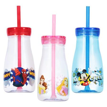 Disney Milk Bottle With Straw Assortment - 1 ea