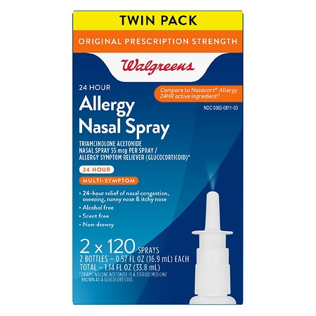 Walgreens Allergy Nasal Spray 120 Sprays -