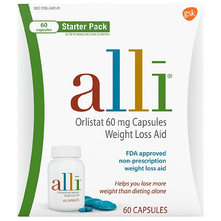 Alli Starter Pack Weight Loss Aid Capsules - 60 ea