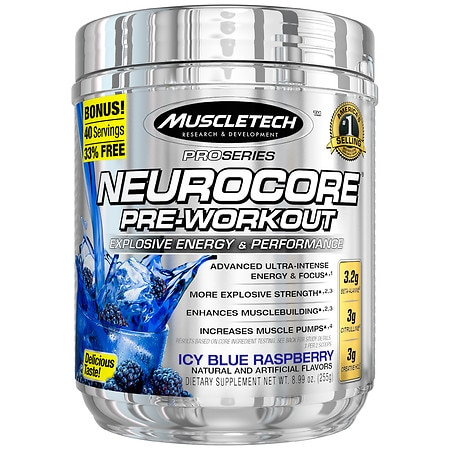 Muscletech NeuroCore Supplement Icy Blue Raspberry - 12.32 oz.