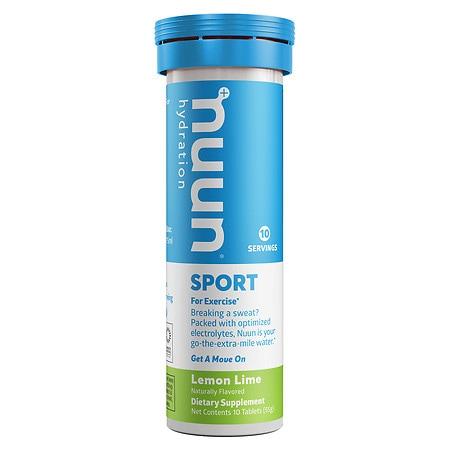 nuun Active Hydrating Electrolyte Lemon Lime - 10 ea