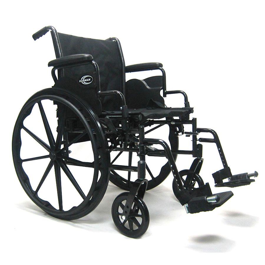 Awe Inspiring Karman Height Adjustable Seat Lightweight Steel Wheelchair With Removable Armrest Seat 20X16 Silver Vein Machost Co Dining Chair Design Ideas Machostcouk