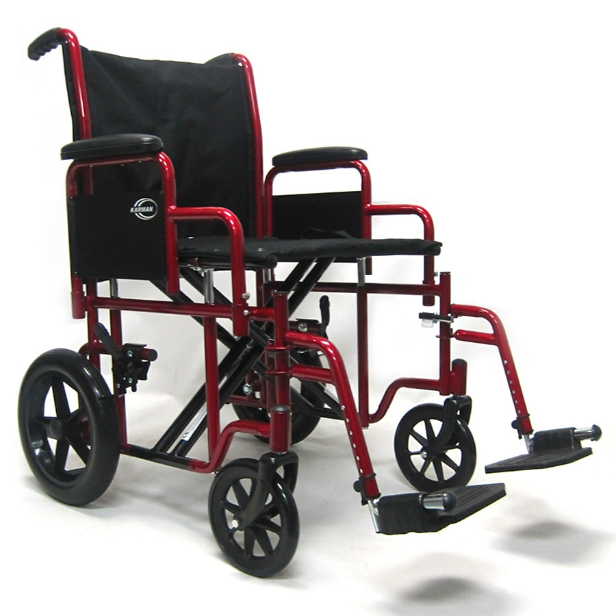 Karman Heavy Duty Transport Wheelchair with Removable Footrest and Armrest Seat 20x18 Burgundy1.0 ea  sc 1 st  Walgreens & Karman Heavy Duty Transport Wheelchair with Removable Footrest and ...