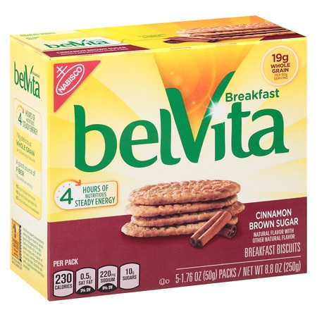 belVita Breakfast Biscuits Cinnamon Brown Sugar - 1.76 oz. x 5 pack