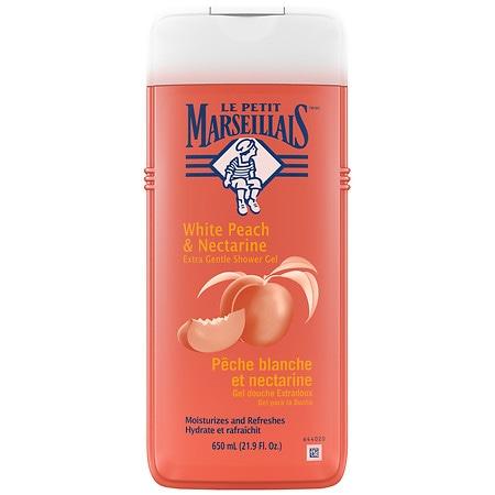 LE PETIT MARSEILLAIS Gentle Shower Gel, Peach & Nectarine White Peach & Nectarine - 21.9 fl oz