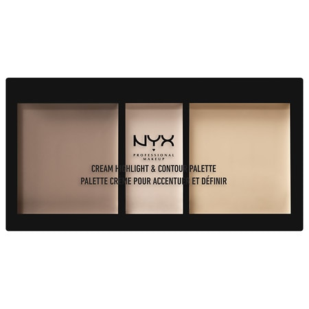 NYX Professional Makeup Cream Highlight Contour Palette - 0.37 oz.