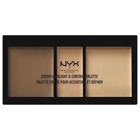 NYX Professional Makeup Cream Highlight Contour Palette - 0.37 oz.