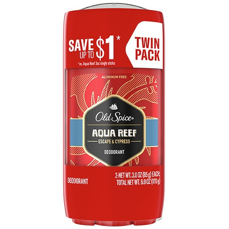 Old Spice Red Zone Collection Men's Deodorant Aqua Reef - 3 oz. x 2 pack