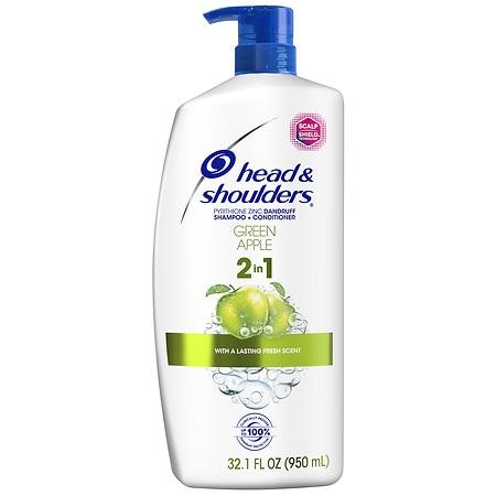 Head & Shoulders 2-in-1 Anti-dandruff Shampoo & Conditioner Green Apple 32.1 Oz.