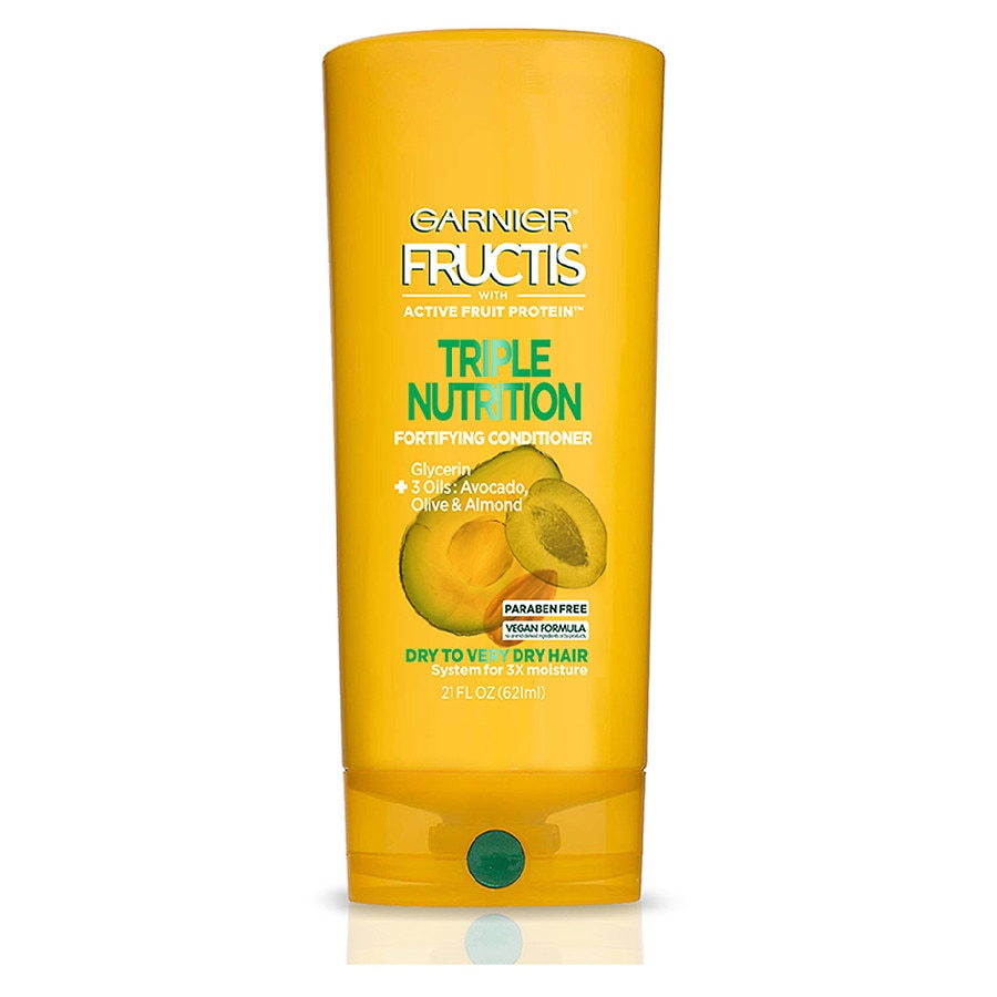 7056c01178b9 Garnier Fructis Triple Nutrition Conditioner, Dry to Very Dry Hair