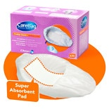 CareBag Bedpan Liner with Super Absorbent Pad White