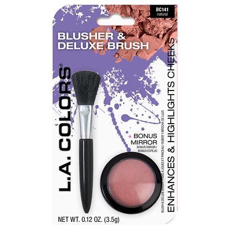 L.A. Colors Blusher & Deluxe Brush Bonus Pack, 2pc - 1.8 oz.