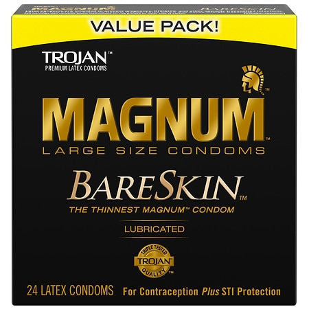 Trojan Magnum BareSkin Condoms Large - 24