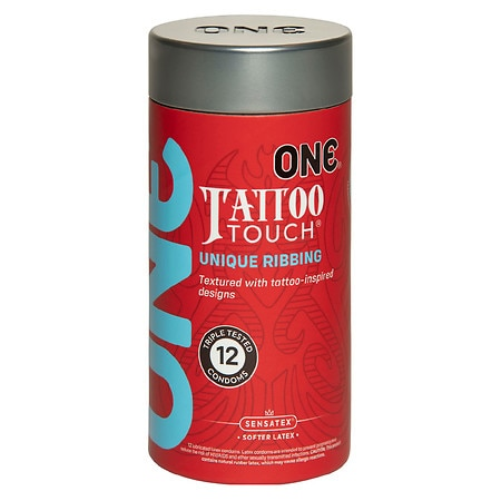 One Tattoo Touch Condoms - 12 ea