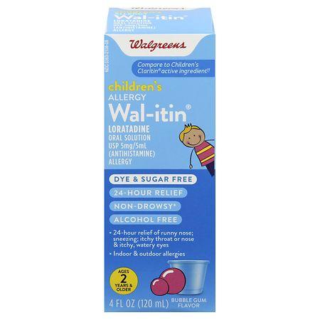 Walgreens Wal-itin Children's Allergy Liquid Dye &