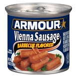 Armour Vienna Sausages Can BBQ