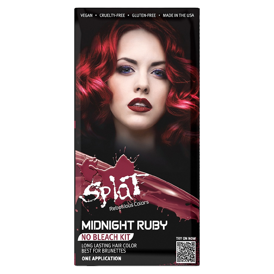 Splat Hair Color Complete Kit Midnight Ruby Walgreens