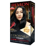 Revlon ColorSilk Buttercream Permanent Hair Color Blue Black