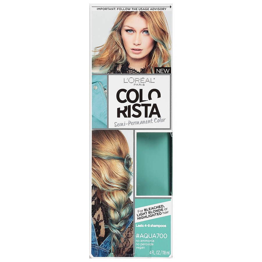 Loreal Paris Colorista Semi Permanent Hair Coloraqua Walgreens