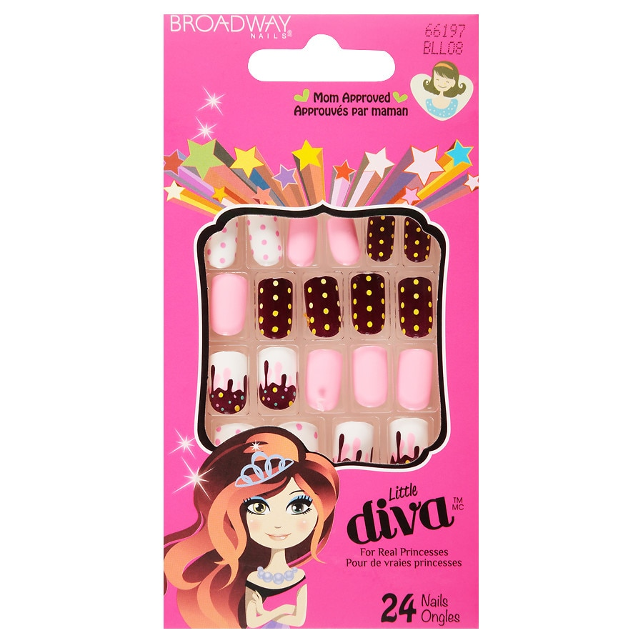 Broadway nails little diva stick on nails 66197 walgreens - Diva nails and beauty ...