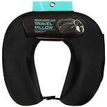 Living Solutions Premium Memory Foam Neck Pillow Black