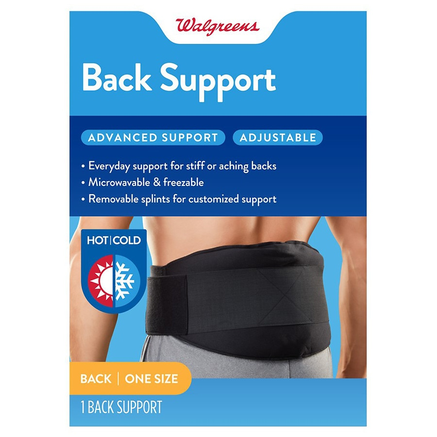 Walgreens Hot Cold Back Support One Size Walgreens