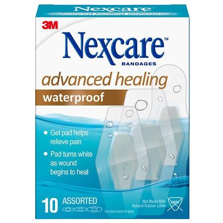 Nexcare Waterproof Bandages Assorted Sizes - 10 EA