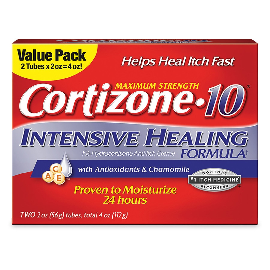 Cortizone 10 Intensive Healing Formula 1% Hydrocortisone Anti-Itch Creme 2.0 oz.(pack of 2) Chateau Labiotte, Wine Lip Balm, Rose Wine, 7 g(pack of 3)
