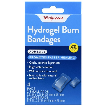 Walgreens Hydrogel Burn Bandages - 4 ea